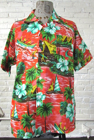00c02c484 The perfect shirt for your tropical day dreams! Tagged by Juan Carlos. 100%  Polyester. Condition: Very Good: Chest: 48