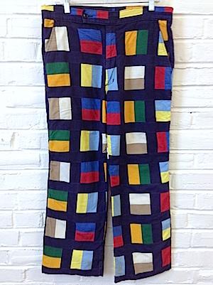 cd25f430 34x27.5) Mens Vintage 70s Disco Pants!!! Groovy Navy Blue Pants w ...