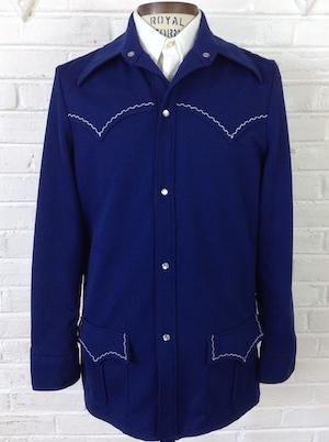 vintage 1970s leisure suit jacket Navy blue size 44 Jantzen