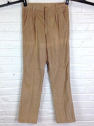 1970s Pants  Vintage 70s Tan Cotton Pants  L