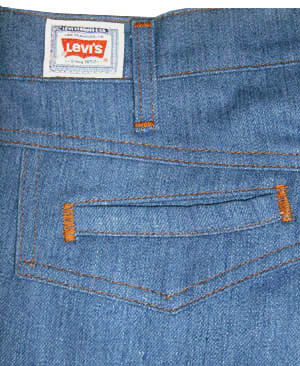 30/31x36) dated 1976 mens Levi's Movin On BELL BOTTOM jeans ...