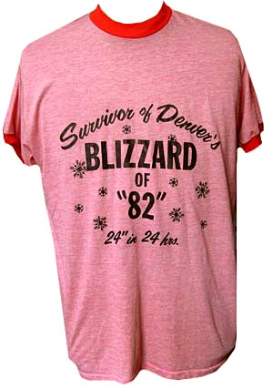 XL) vintage 1982 T-shirt. Denver s Blizzard of 82, 24 in 24 hrs